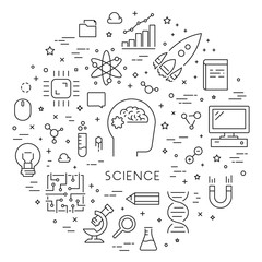 Line web concept for science