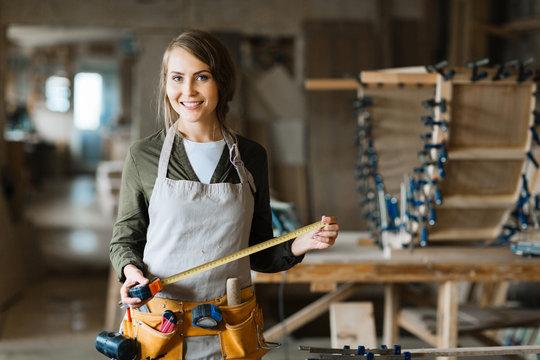 Female in workshop