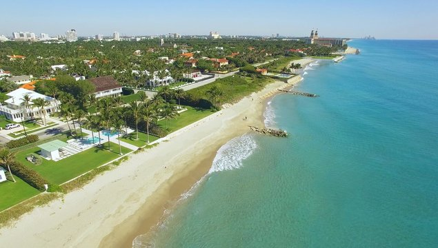 amazing aerial view on West Palm Beach