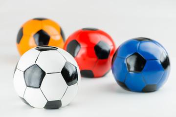 piggy soccer ball on a gray background