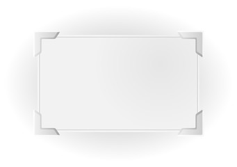 silver frame with significant corners