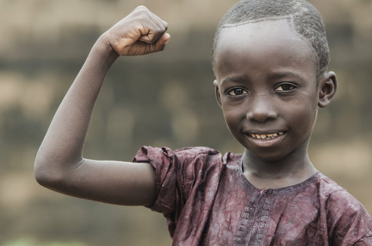 Strong and Proud Little African Boy