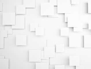 3d blank white sqaures background