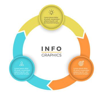 Three steps infographics. Vector design element.