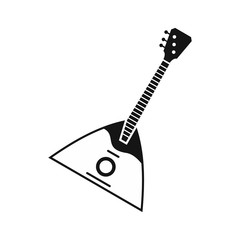 Balalaika icon in simple style on a white background vector illustration