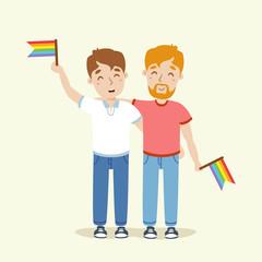 vector gay couple illustration