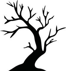 Leafless tree halloween tree