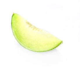 green melon on white