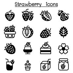 Strawberry icon set