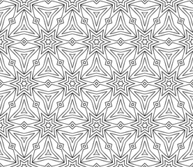 Abstract Vector seamless pattern with complex triangle style.