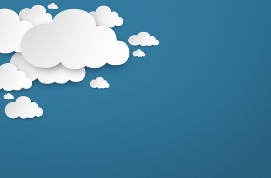 Nuvole bianche in cielo azzurro 3d render