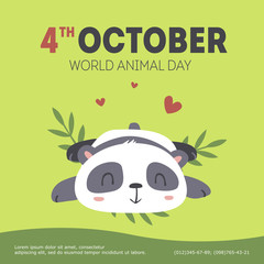 vector world animal day illustration
