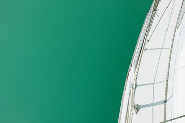 Cropped Image Of Boat Sailing In Lake Constance