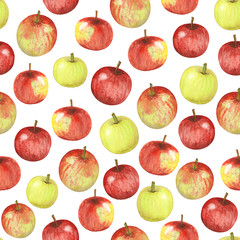 seamless watercolor apples