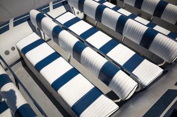 Seat row on a Rigid-inflatable boat (RIB)