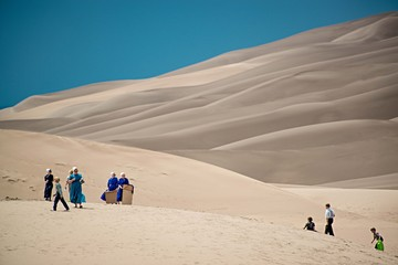 Group of people at desert