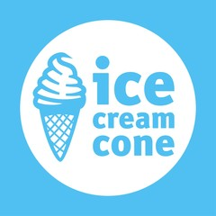 ice cream cone blue logotype
