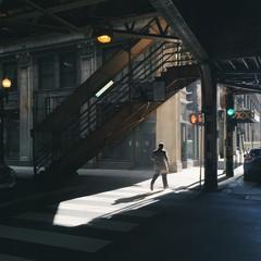 Man Walking In City Street