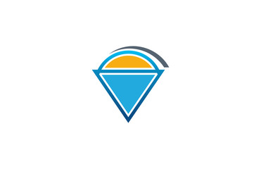 sun triangle business logo