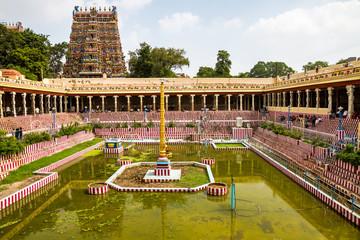 Südindien - Tamil Nadu - Madurai - Meenakshi Sundrareshva Tempel Wall mural