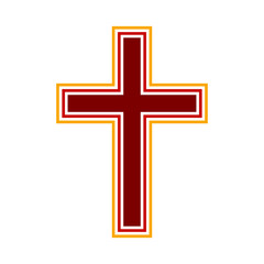 Religious cross symbol icon.