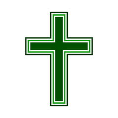 Religious cross symbol icon on white background. Vector illustration.