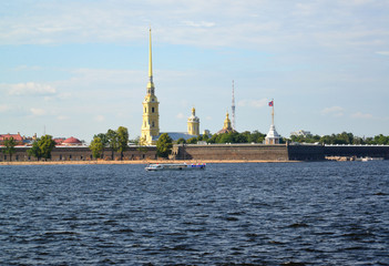 ST. PETERSBURG, RUSSIA. A view of the Peter and