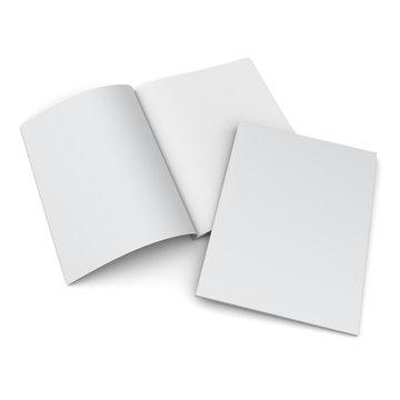 catalog or magazine isolated on white