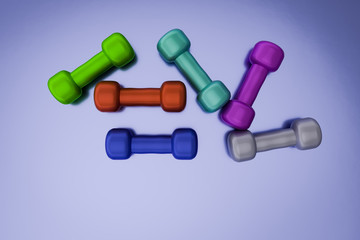 Dumbbell weight,3d rendered