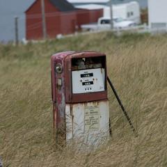 Abandoned gas pump, Newfoundland, Canada