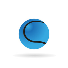 Light blue tennis ball.