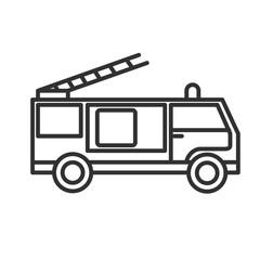 fire engine icon. thin line design