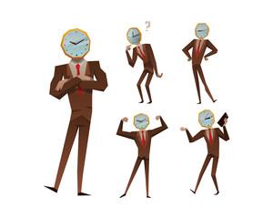 Businessman watch head vector illustration