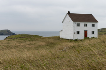 One house overlooking the ocean at Bonavista Peninsula, Newfoundland, Canada