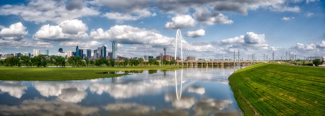 Margaret Hunt Hill Bridge at Trinity Park in Dallas, Texas