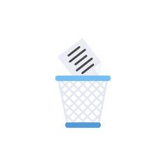 trash bin icon. flat design