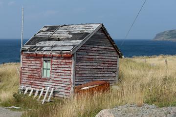Abandoned building, Bonavista Peninsula, Newfoundland, Canada