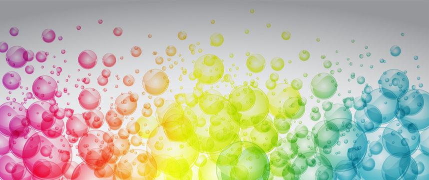 Rainbow color bubbles