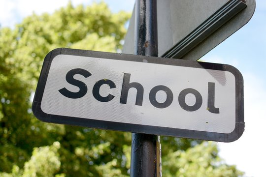 A UK school sign