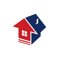 Up Arrow House Flat Property Logo Symbol
