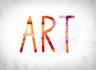 Art Concept Watercolor Word Art