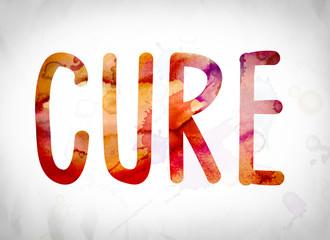 Cure Concept Watercolor Word Art