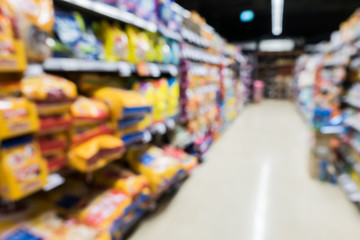Blur Image of pet food shop..