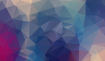 Colorful polygon background or vector frame. Abstract Triangle G