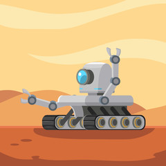 mars rover robot vector illustration design