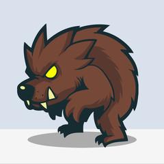 Cute werewolf cartoon