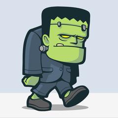 Cute Frankenstein Cartoon
