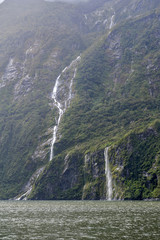 Milford Sound / Piopiotahi, a fiord in the south west of New Zealand's South Island, within Fiordland National Park