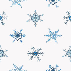 Seamless snowflakes pattern. Christmas and New Year design. illu