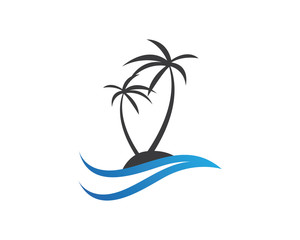 quotcoconut tree in beach logoquot photos royaltyfree images